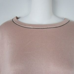 Calvin Klein Tops - Calvin Klein Blush Pink Stretch Knit Top Sweater